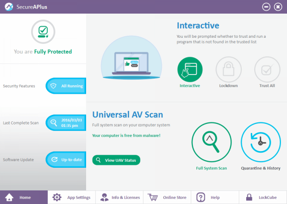 SecureAPlus Premium - Проактивная защита